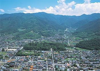 武田信玄の「躑躅ヶ崎館」上空写真