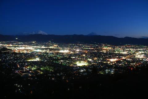 愛宕山こどもの国の夜景の写真
