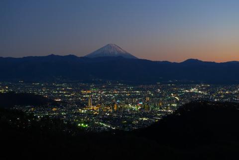 白山の夜景の写真